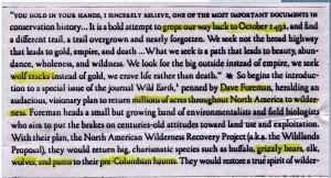 Dave Foreman - Wildlands Project